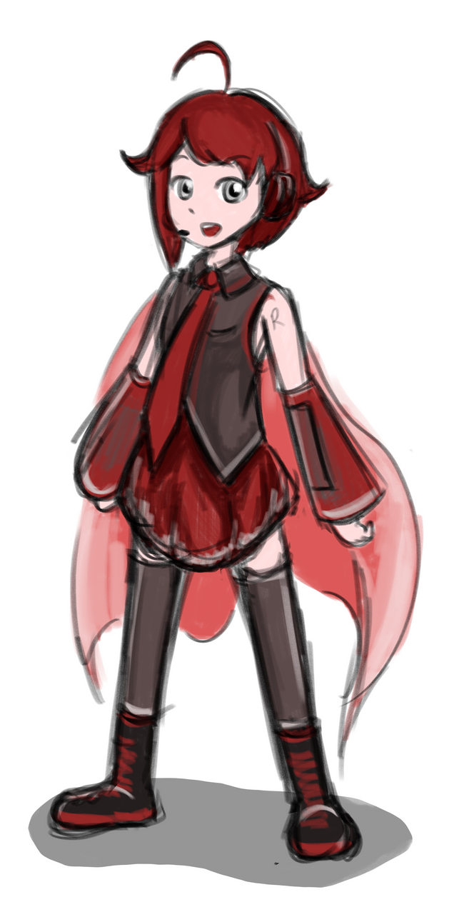 Ruby Rose x Vocaloid by geek96boolean10