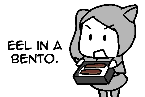 NukoWeiss: Eel in a Bento by geek96boolean10