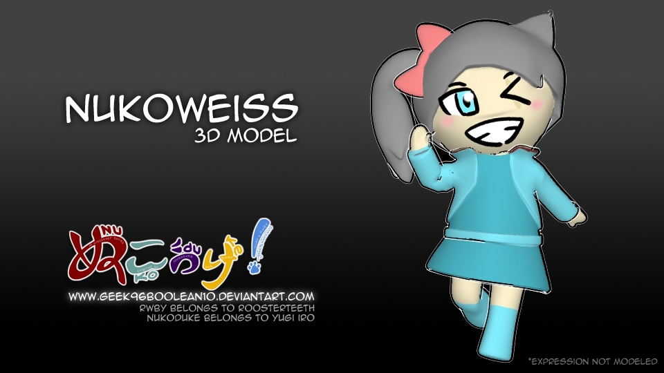 NukoWeiss - Maya 3D Model by geek96boolean10