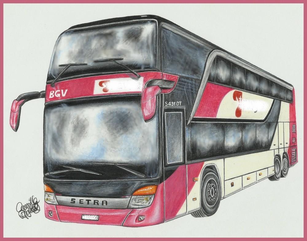 Double-decker bus by FrenchTechnoKitten