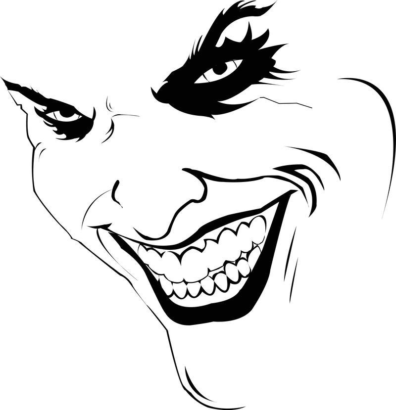 The Joker Line Art : My first vector the joker by deviantrican on deviantart