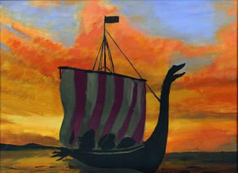 Viking Ship by creative-drive