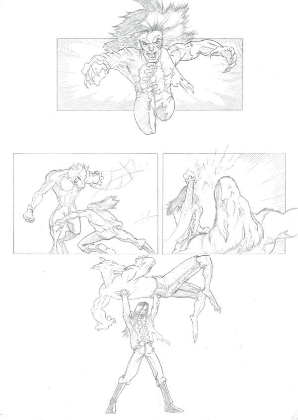 Werewolf vs Vampire - page 4 by JohnnyBoyB