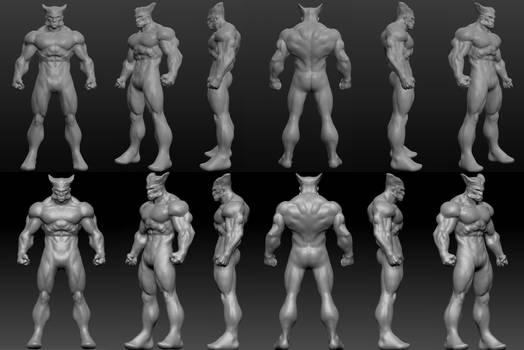 Wolverine using Sculptris