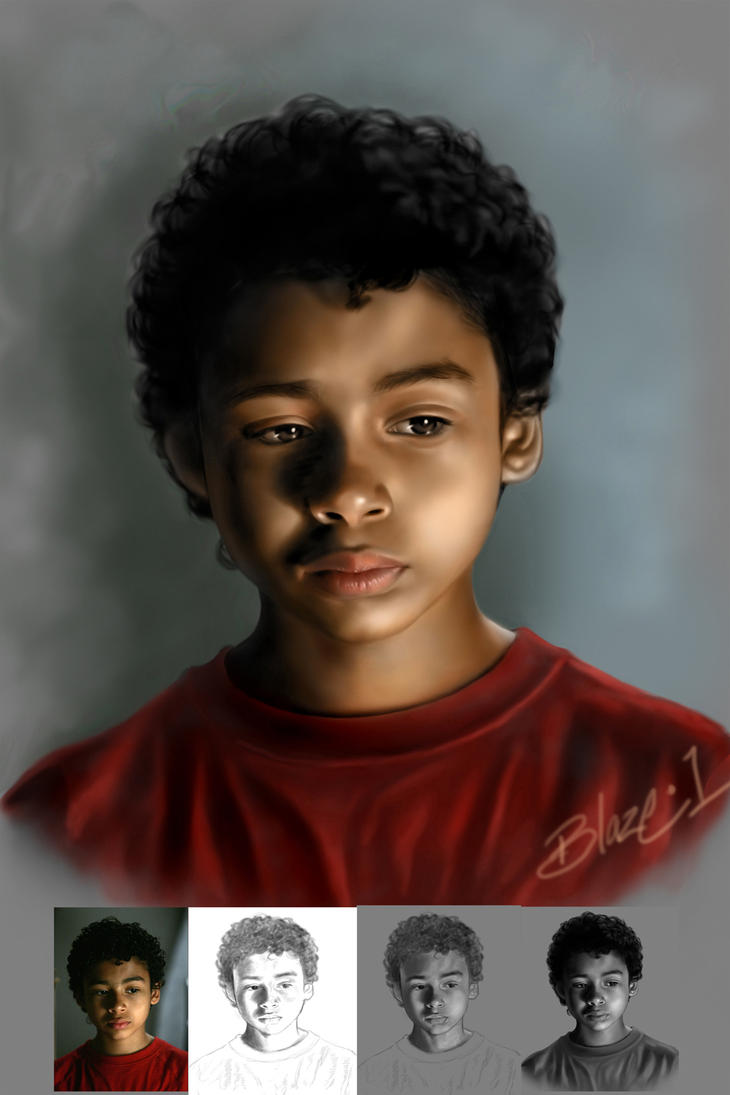 Micah Painting Process by Blaze0ne