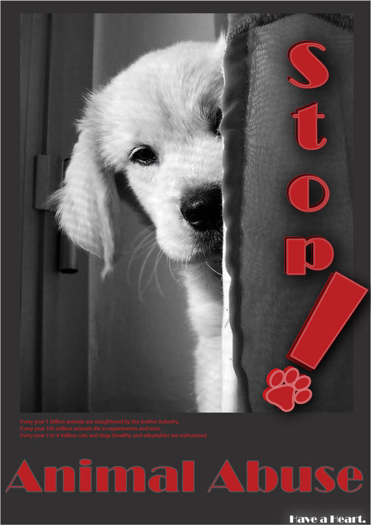 Animal abuse posters - photo#2