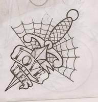 Dagger tattoo design by pandouken