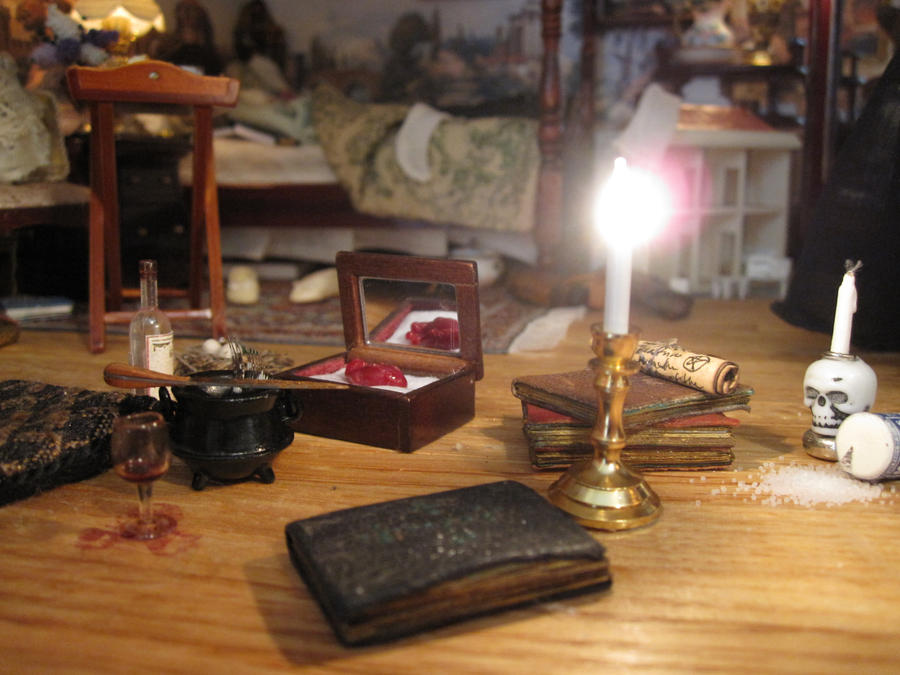 Miniature scene from witch 39 s bedroom by annadancie on for Scene room ideas