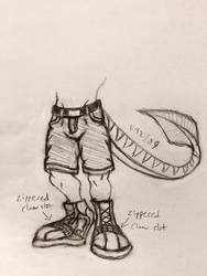 Raptor Shoes and Shorts by RockNRollRaptor