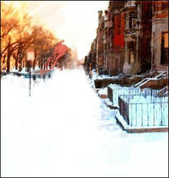 Winter Commonwealth Ave by OFaia
