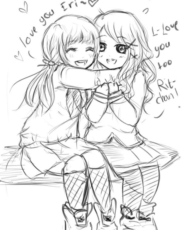 Friendship (sketch/unfinished) by Heartbreakermoy on ...
