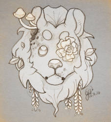 forest lion by lonely-dog-song