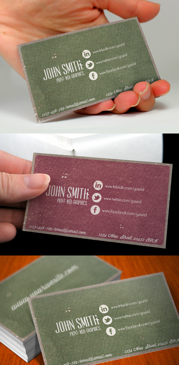 Social Media Vintage Business Card
