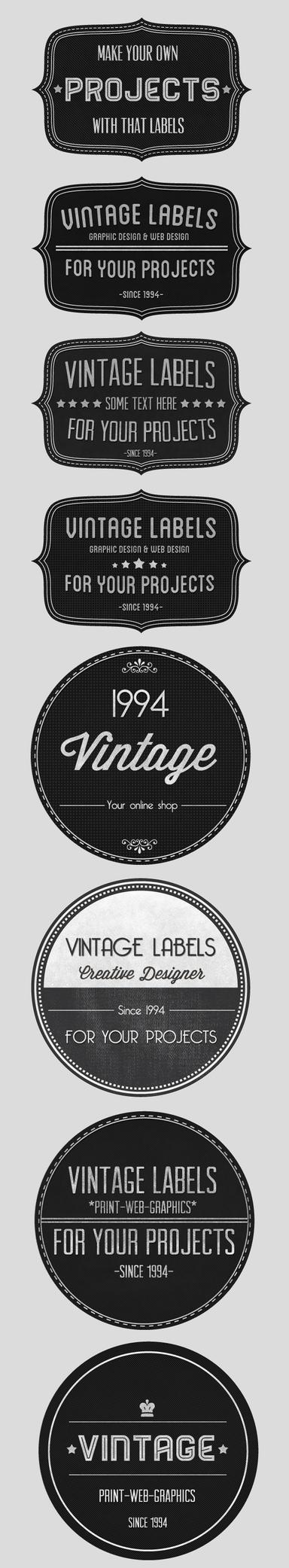 Vintage Badges Set by Nyz87