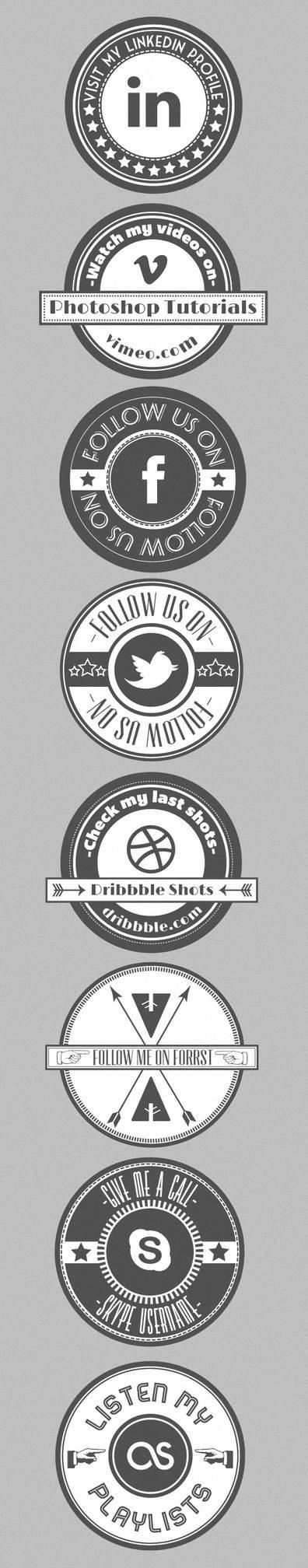 Social Retro Badges