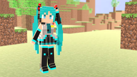 MMD - Miku in Minecraft :D