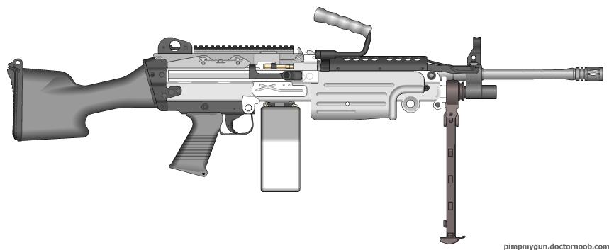 Light Machine Gun Saw Winter SAW Light Machine Gun