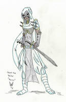 Blood and Bounty Concept Sketch: Ghost Fox Wiccer by Blackrabbit-98