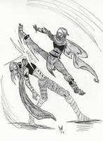 Elucard vs Inle by Blackrabbit-98