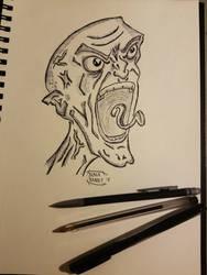 Enraged: Inktober Day 4 by Blackrabbit-98