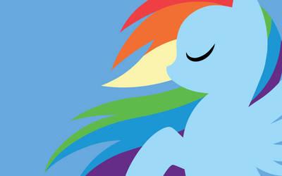 Wallpaper - Rainbow Dash by MegaSweet