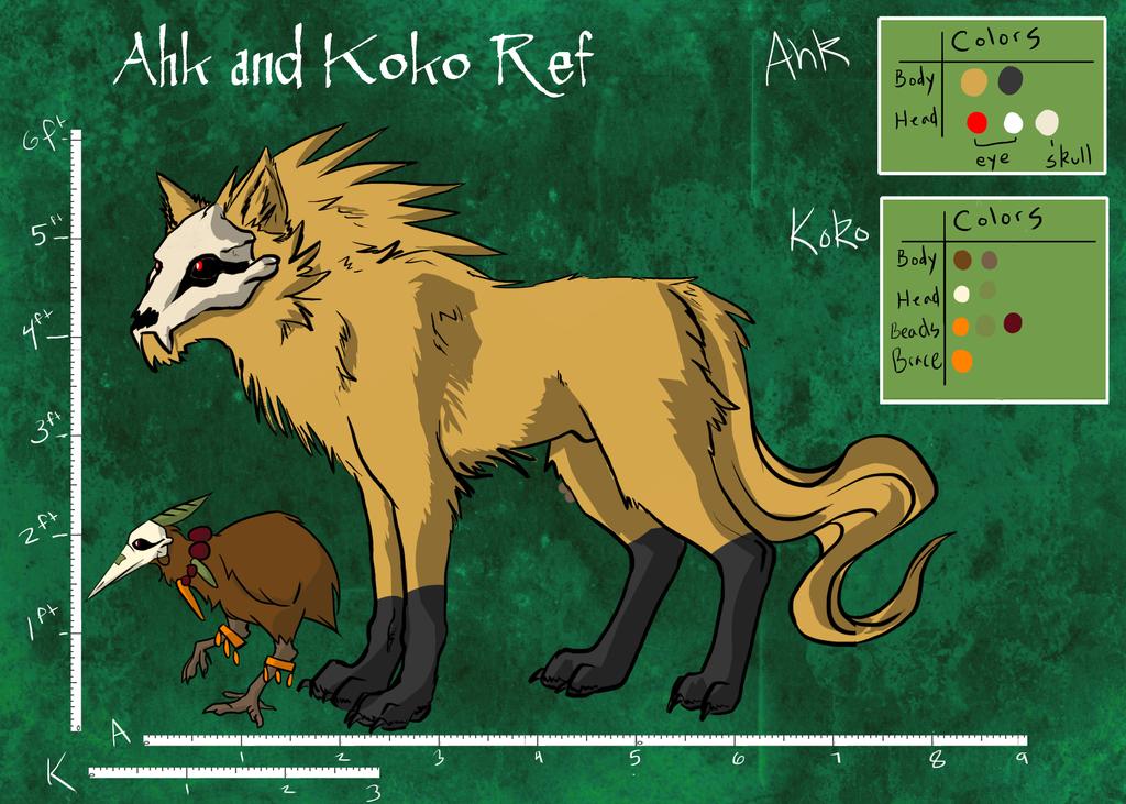 Ahk and Koko Reference by Ahkward