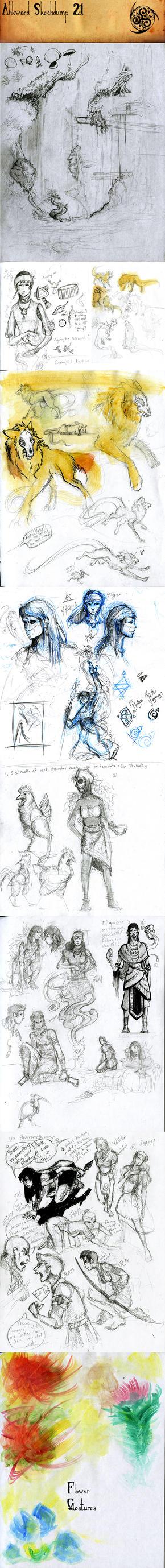 Sketchdump #21 by Ahkward