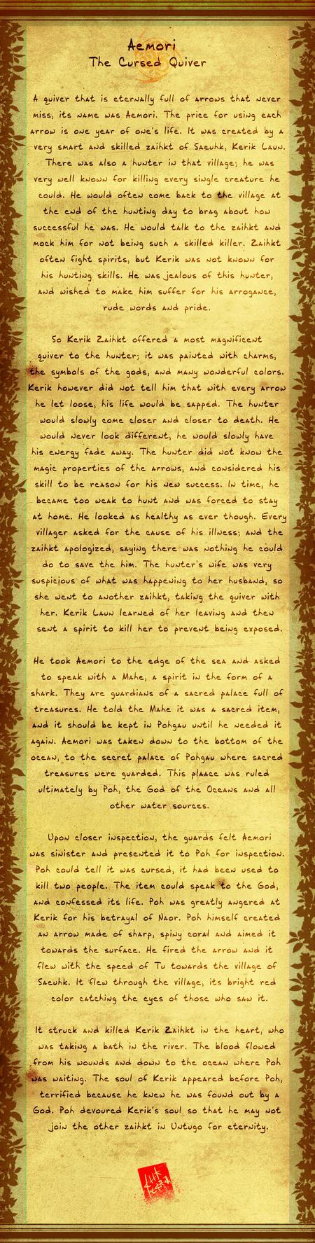 Naori Folk Story 01: The Cursed Quiver by Ahkward