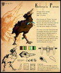 Naor: Koko Panua Character Sheet by Ahkward