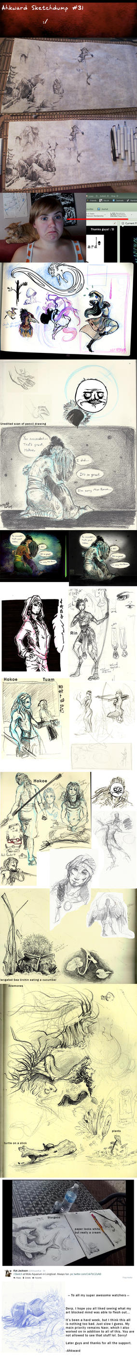 Sketchdump #31 - The ArtBlock by Ahkward
