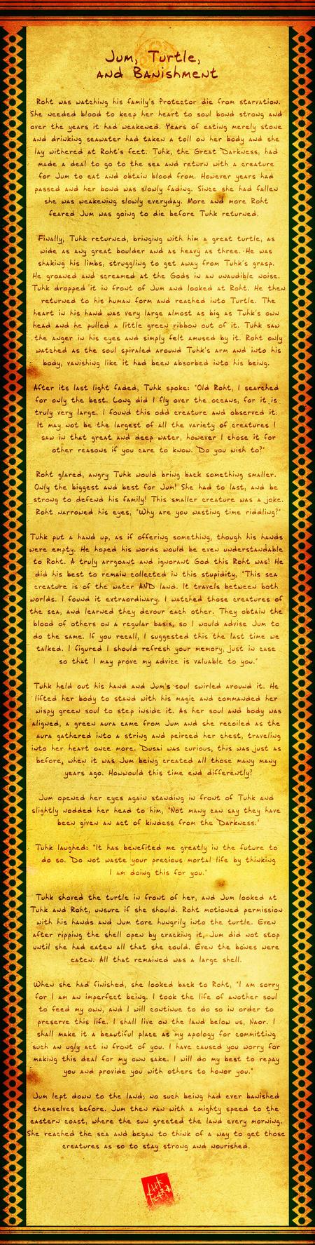 Naori Myth 08: Jum, Turtle and Banishment by Ahkward