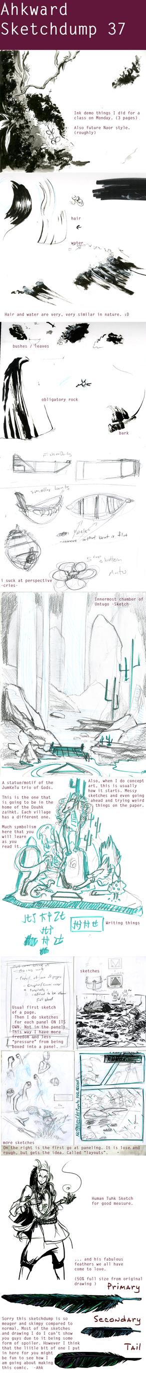 Sketchdump #37 - Comic making by Ahkward