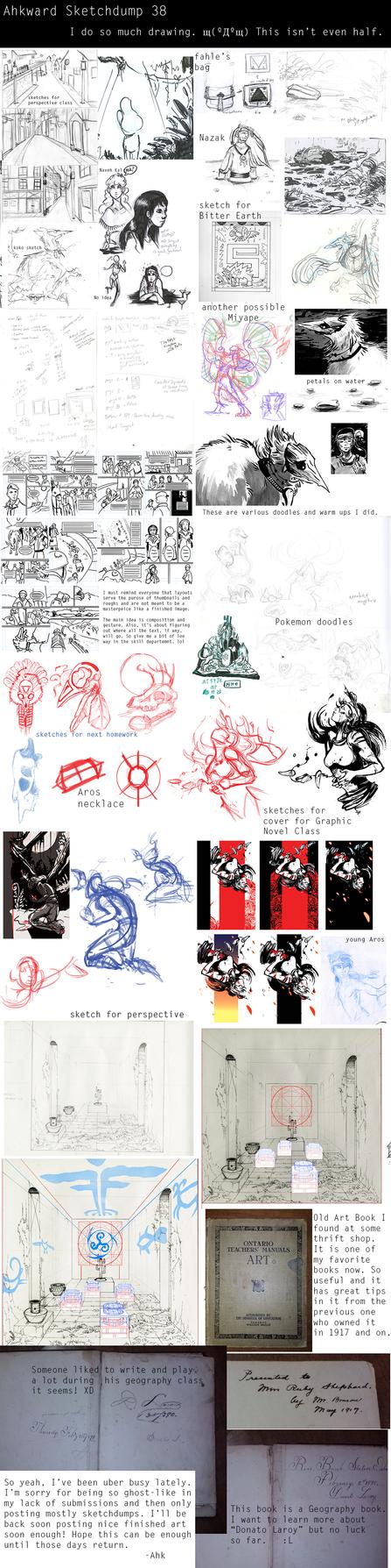 Sketchdump #38 - School and On by Ahkward