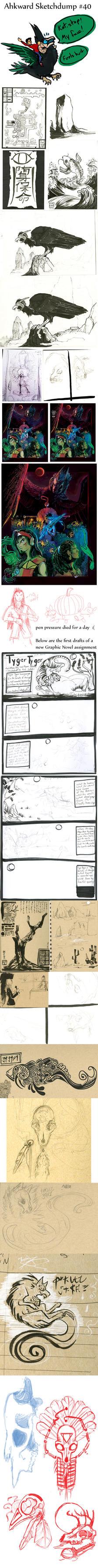 Sketchdump #40 by Ahkward