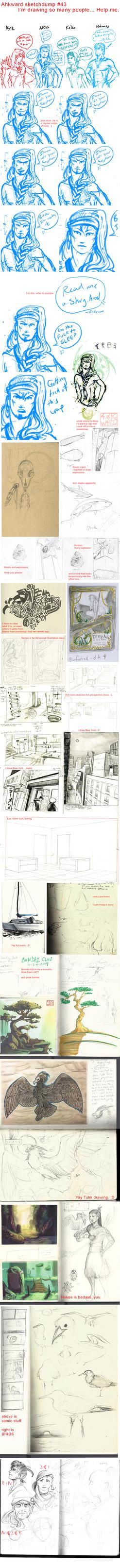 Sketchdump #43 by Ahkward