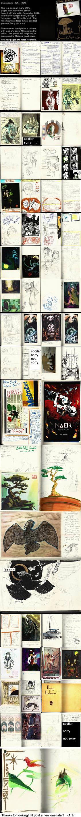 Sketchdump 46: Sketchbook by Ahkward