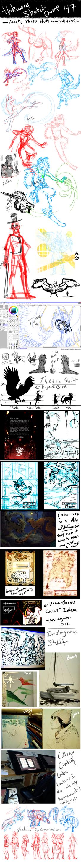 Sketchdump 47: Things by Ahkward