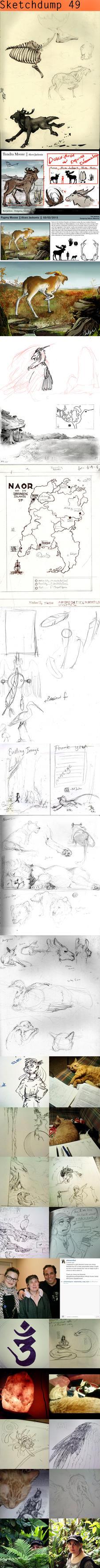 Sketchdump #49 by Ahkward