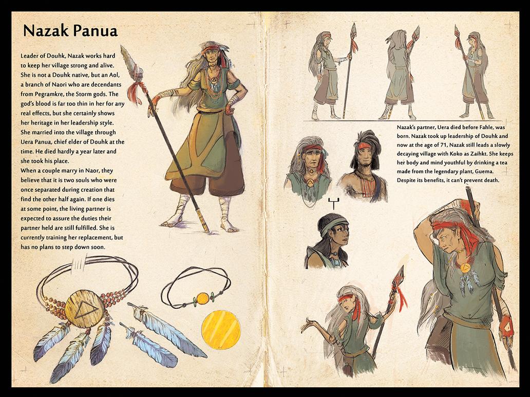 Naor - Nazak Panua Character Sheet by Ahkward