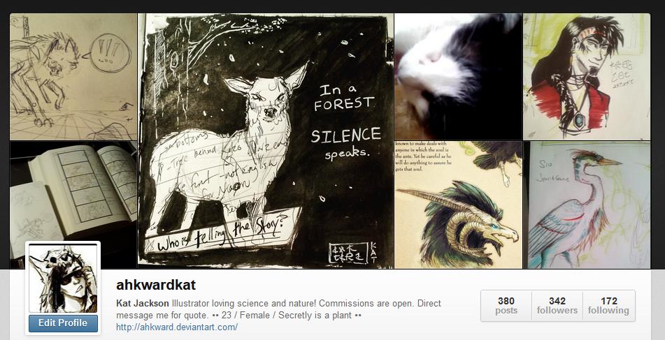 Follow me on Instagram! by Ahkward