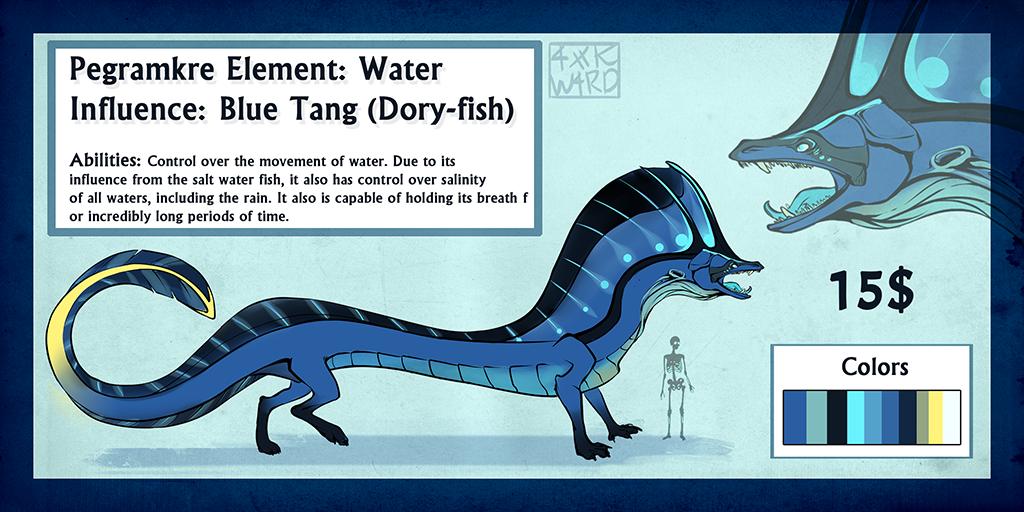Pegra Adopt: Dory-fish SOLD by Ahkward