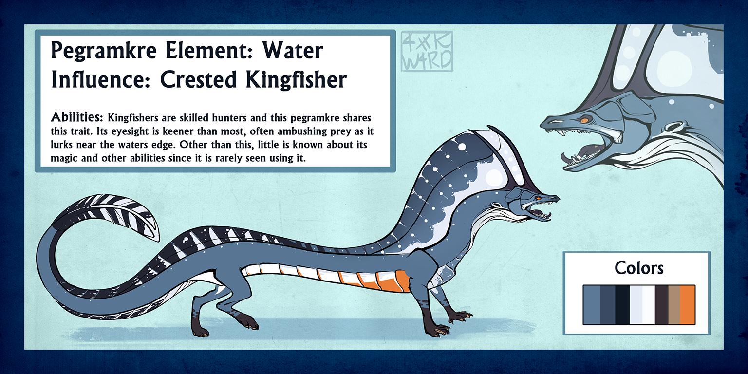 Pegra Custom: Crested Kingfisher by Ahkward