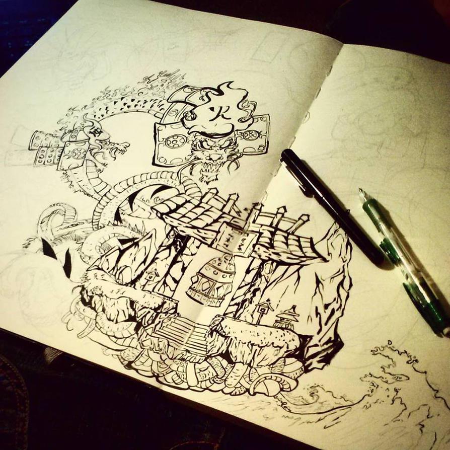 Orochi WIP by Ahkward