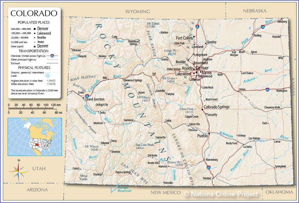 Colorado map by Ahkward
