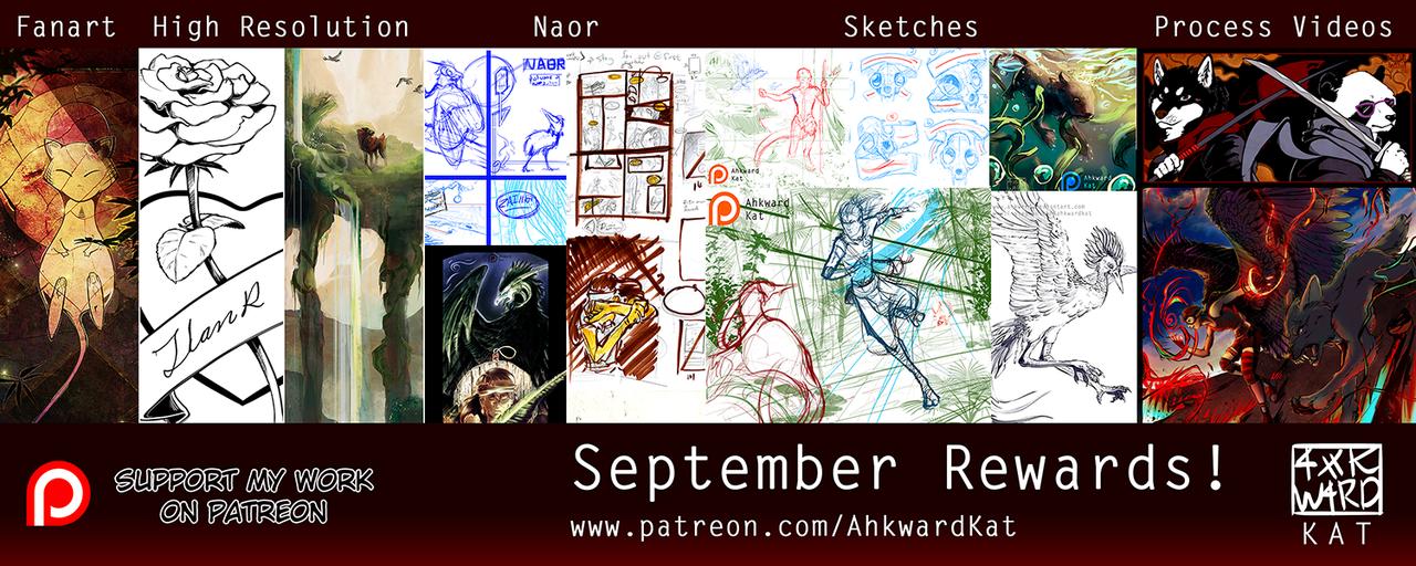 September Patreon Rewards! by Ahkward