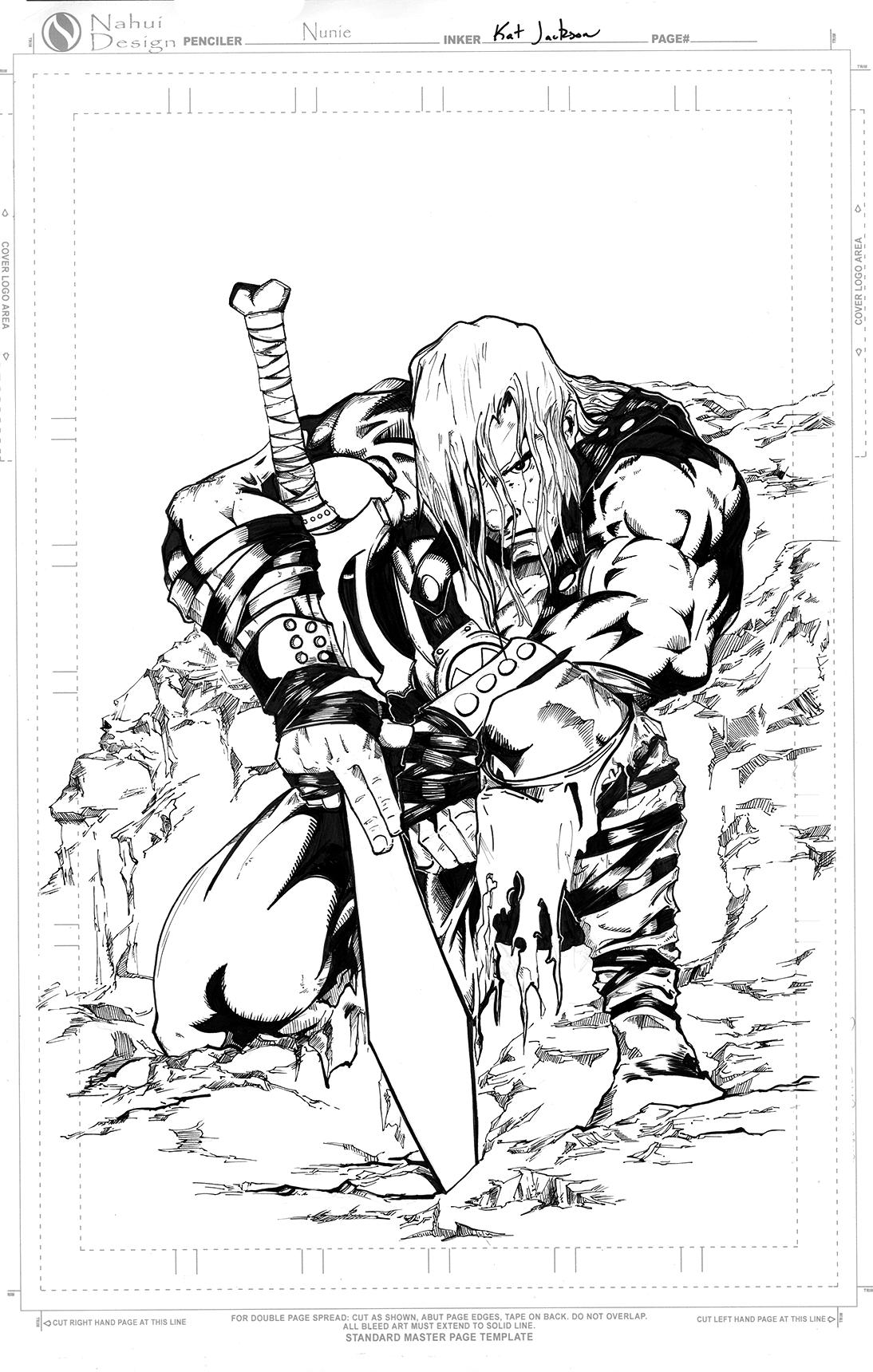 Inktober Day 1: He-Man Inks by Ahkward