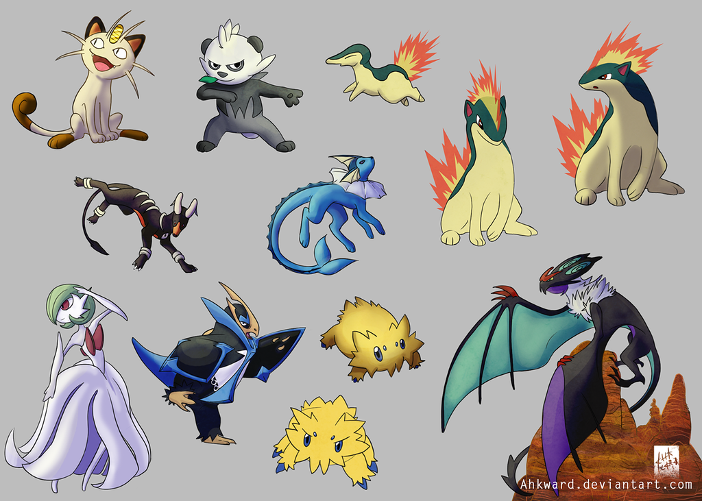 Pokemon Sketchdump 03 by Ahkward