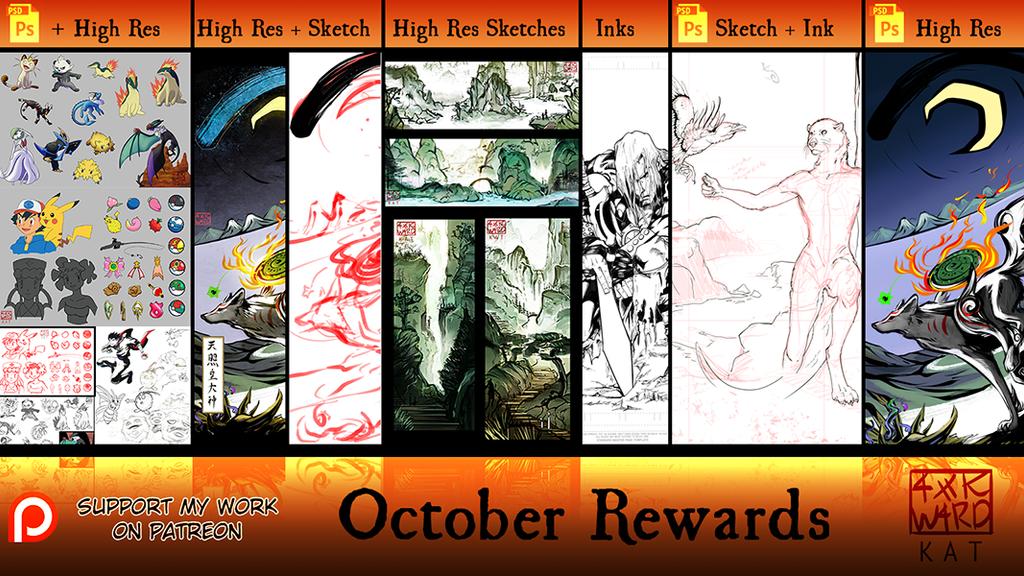 October Patreon Rewards! by Ahkward
