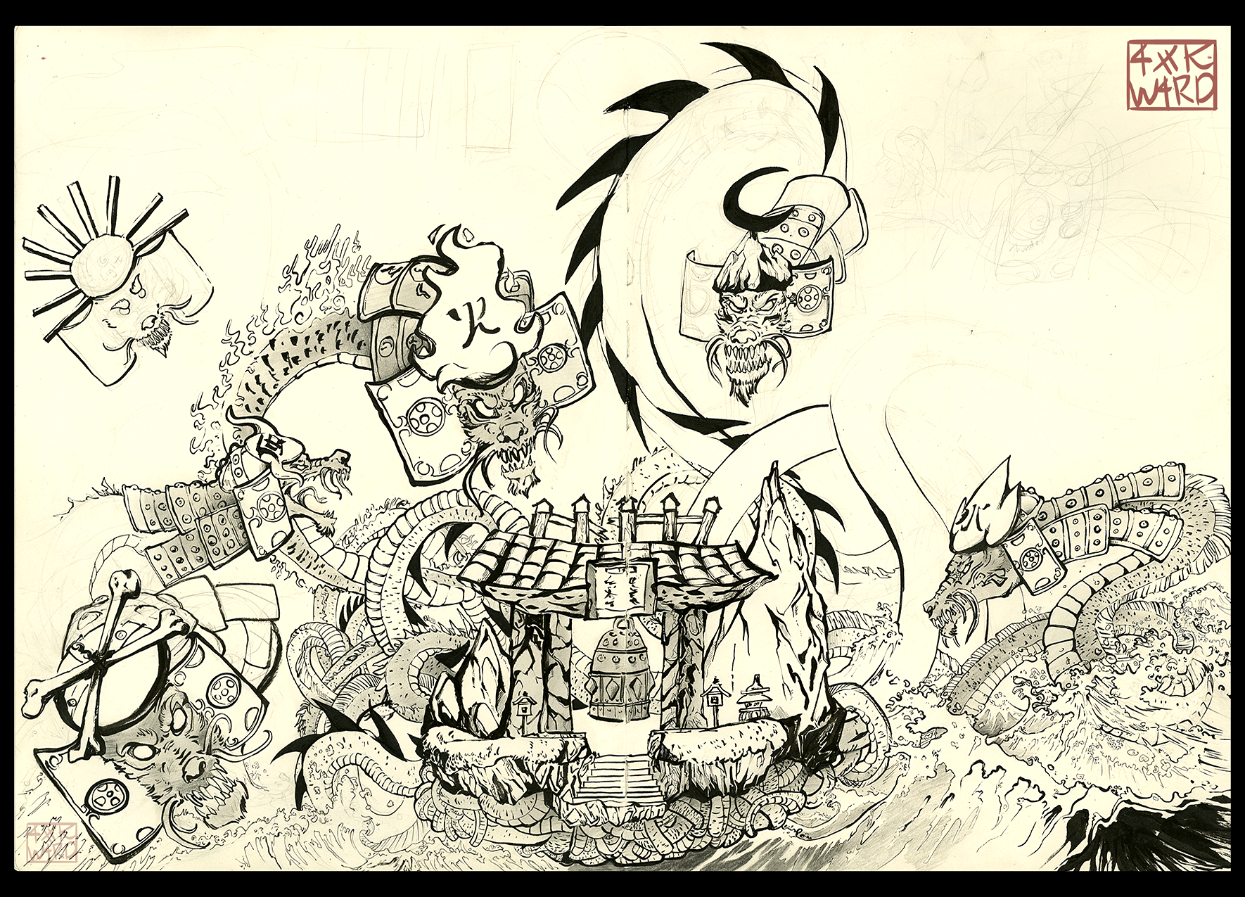 Orochi Tribute WIP by Ahkward