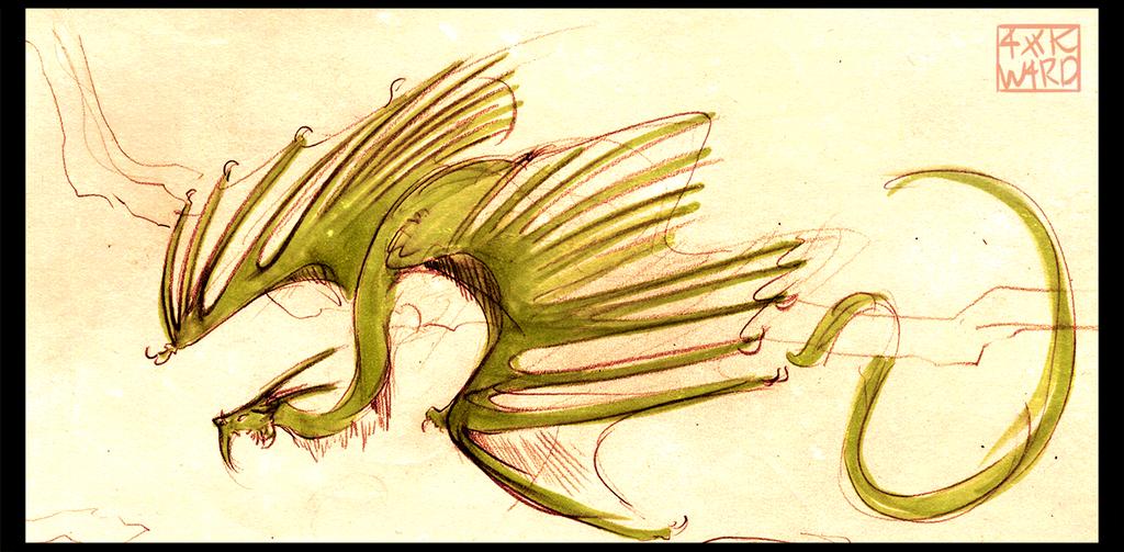 Twig Dragon by Ahkward
